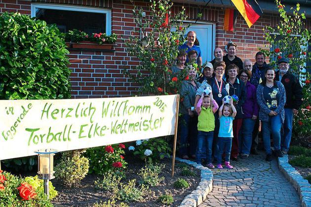 Torball-Sportlerin Elke Averesch besuchte ihr Elternhaus in Eggerode