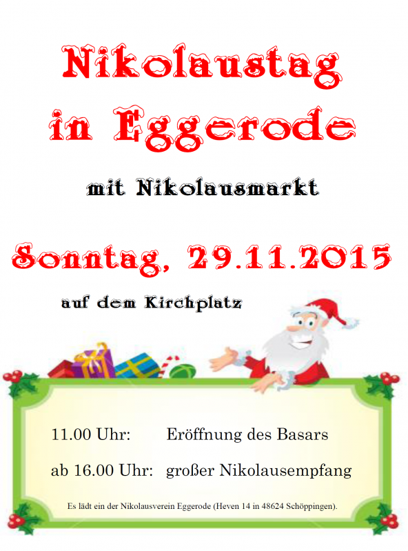 Plakat zum Nikolausmarkt 2015