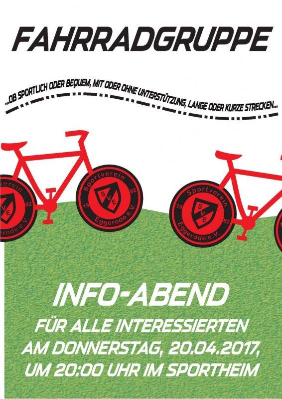 Fahrradgruppe – Info-Abend im Sportheim am 20.04.2017